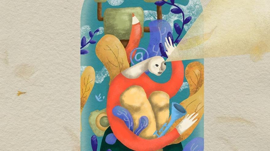 Detalle del cartel del Foro Internacional de Industrias Culturales y Creativas de la Asociación de Gestores Culturales de Extremadura / AGCEX