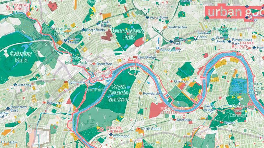 Mapa de London National Park.