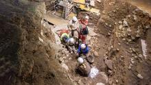 Excavaciones en el yacimiento de Atapuerca, en la provincia de Burgos.