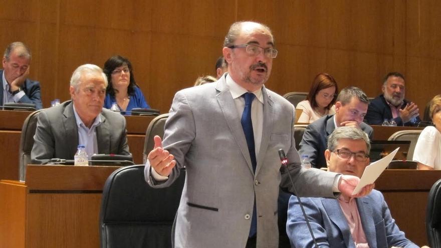 Lambán no duda de la neutralidad de Ferraz y de Pedro Sánchez en las primarias del PSOE Aragón
