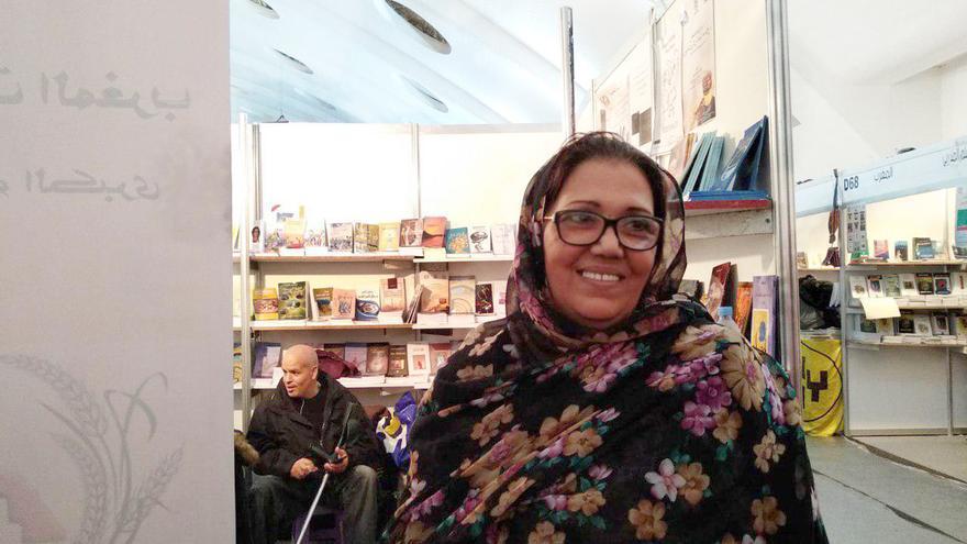 Aziza, escritora y presidenta de la Asociación de Escritoras de Marruecos