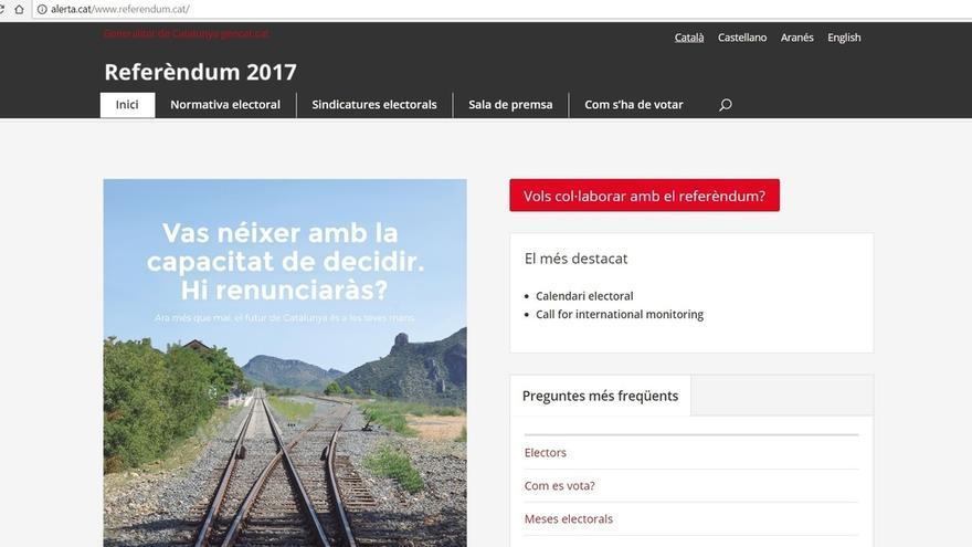 Una organización próxima a la CUP replica la web del referéndum después de que la Guardia Civil obligue a cerrarla