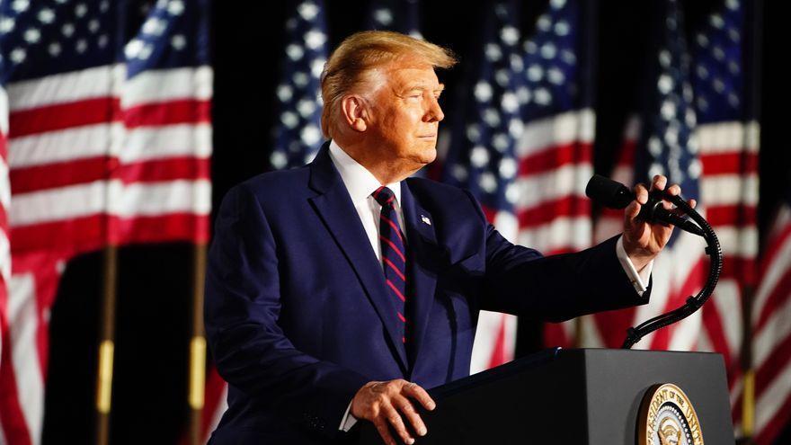 Donald Trump, durante la campaña electoral de 2020