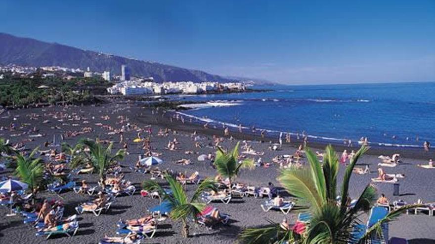Playa Jardín en Puerto de la Cruz.