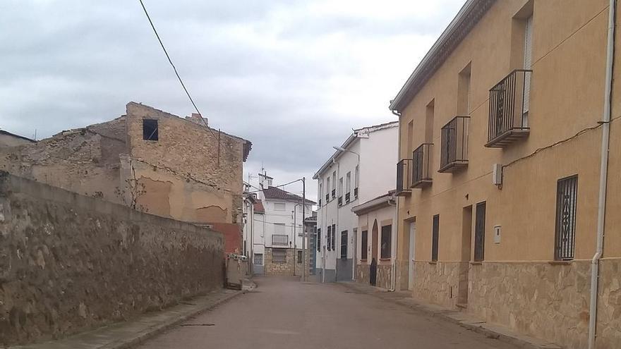 Una calle de Cañaveras (Cuenca)