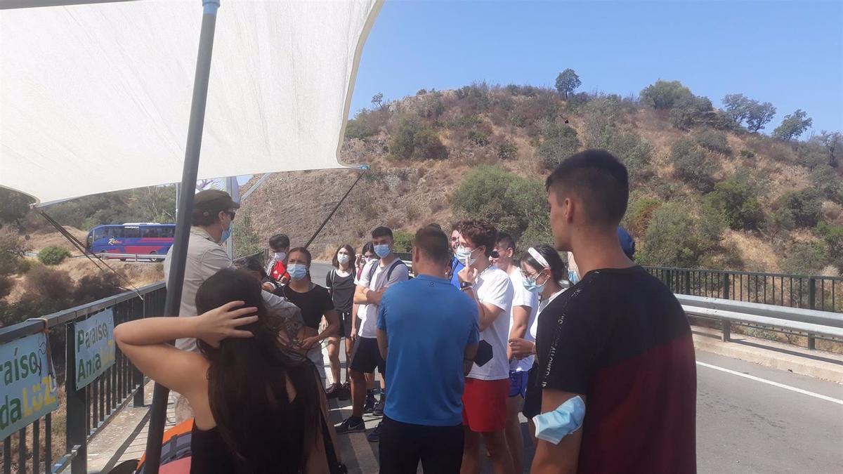Participantes en una actividad de la Casa Joven de Montilla.