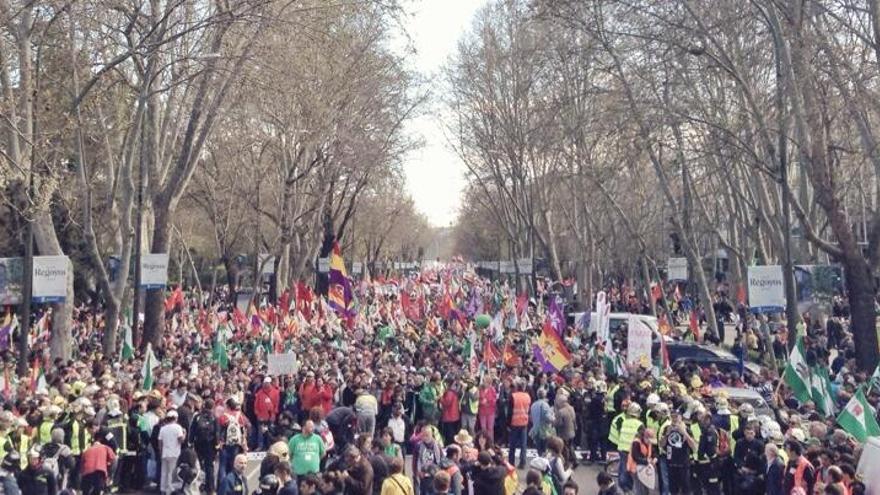El encuentro de las Marchas de la Dignidad en Atocha. / Juan Luis Sánchez