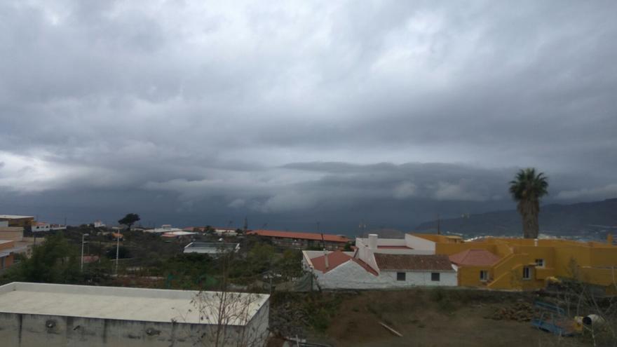 Imagen de la zona del Valle de Aridane, este jueves, 23 de noviembre. Foto: OMAR RODRÍGUEZ.