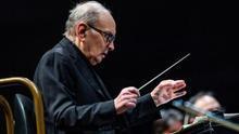 El compositor y director de orquesta italiano Ennio Morricone durante un concierto EFE / Rodrigo Jiménez/Archivo