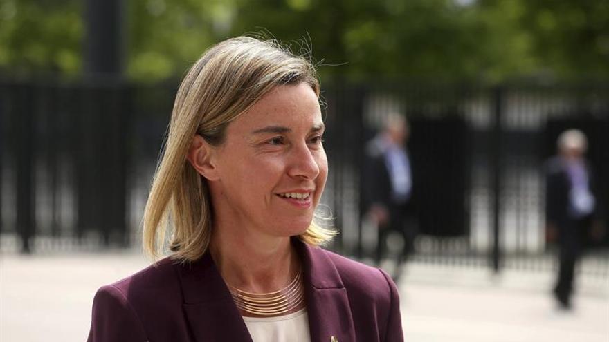 Mogherini aboga en China por aumentar la cooperación en materia de seguridad