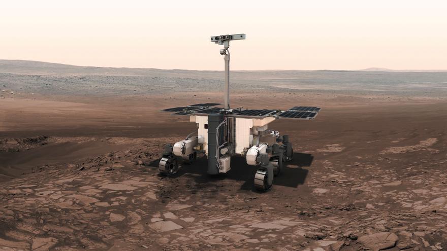 Diseño del rover para la misión ExoMars.