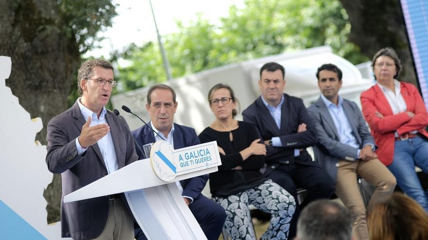 """Feijóo repite que no quiere para Galicia """"líos ni partidos liados"""" sino mantener """"la excepción de la estabilidad"""""""