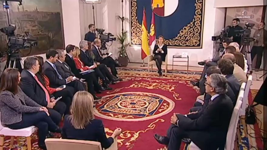 """Encuentro """"Cospedal Responde"""" con 22 medios de comunicación / Foto: Junta"""