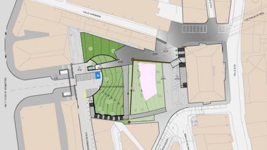Plano del proyecto de nuevo acceso al Cabildo desde el Pasaje de Peña. | AYUNTAMIENTO DE SANTANDER