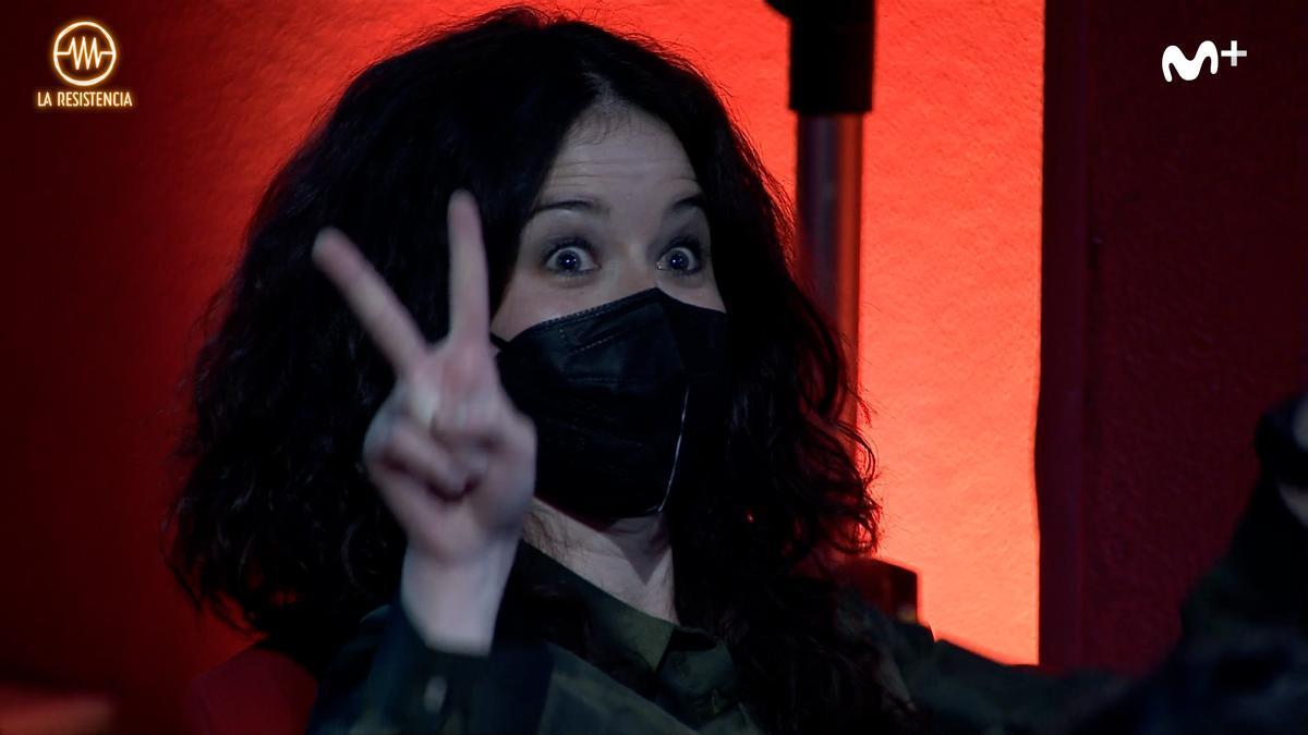 """La """"doble"""" de Ayuso, en 'La Resistencia'"""