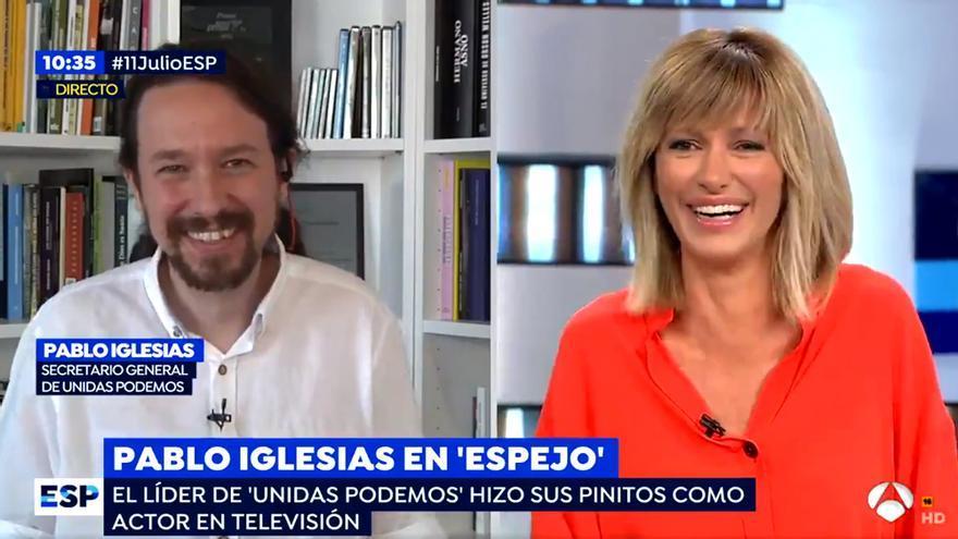 """Iglesias y Griso se piropean en 'Espejo Público': """"Usted y yo somos como el buen vino, mejoramos con los años"""""""