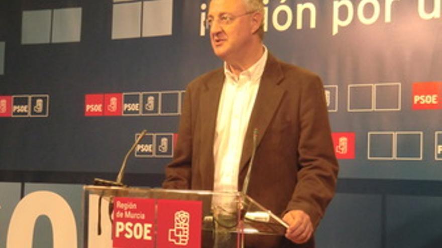 Caldera en la sede del PSOE de Murcia