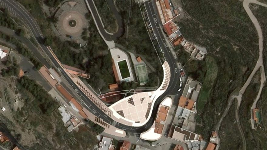 Infografía del proyecto ideado por el Ayuntamiento de Artenara para destinar los fondos del Fdcan