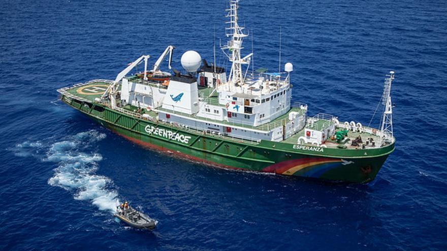 Imagen de archivo del barco de Greenpeace 'Esperanza'