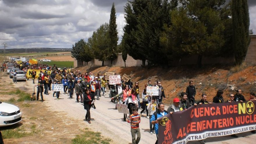 Cuarta Marcha en contra del ATC. Foto por la Plataforma en contra del Cementerio Nuclear