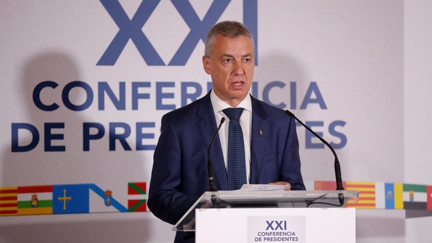 El lehendakari, Iñigo Urkullu, este viernes durante la Conferencia de Presidentes