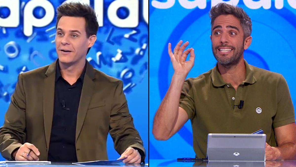 Christian Gálvez y Roberto Leal, en distintas etapas de 'Pasapalabra'