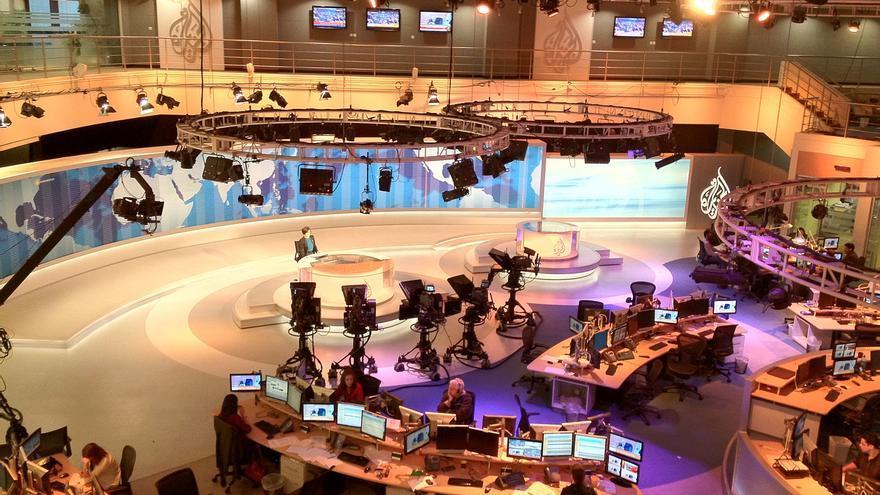 Plató principal de la redacción de Al Jazeera en Qatar.