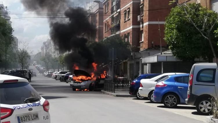 El incendio, en la avenida Virgen de Fátima
