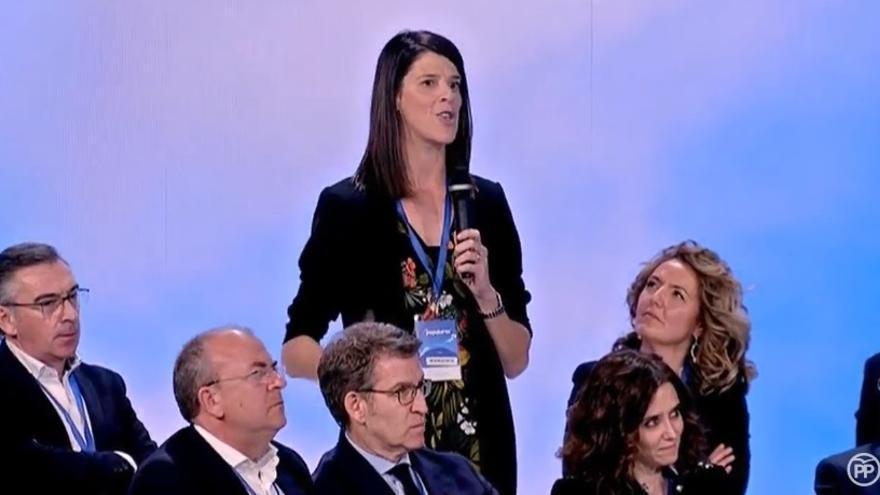 Ruth Beitia durante su intervención en la Convención Nacional del PP.
