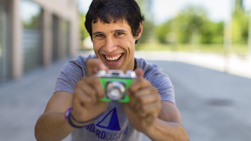 El joven fotógrafo pamplonés Pablo Lasaosa / Foto: P. L.