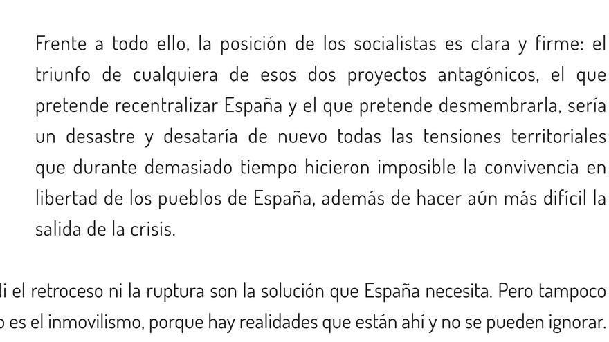 Fragmento de la Declaración de Granada.