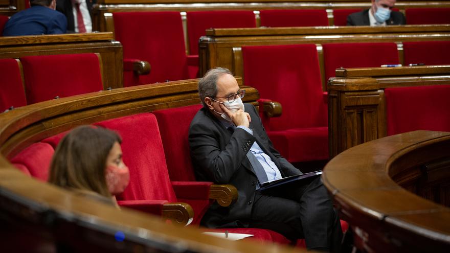 El presidente de la Generalitat, Quim Torra, durante el Debate de Política General.