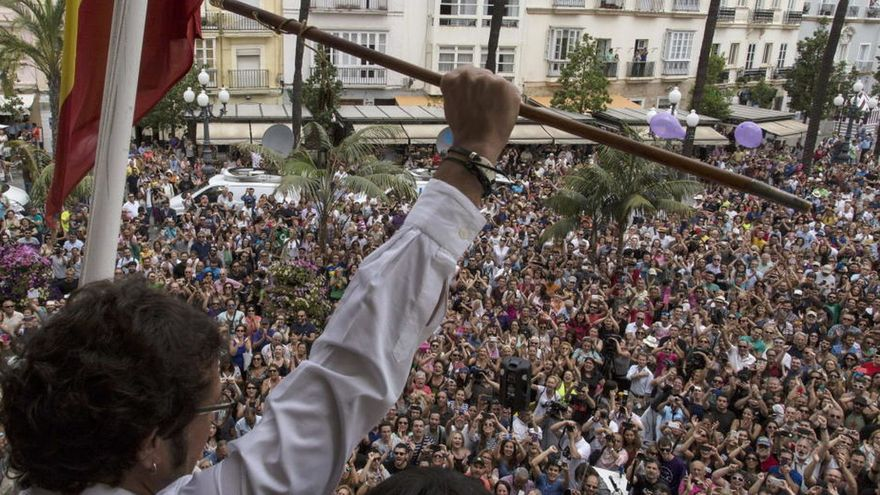 """José María González """"Kichi"""" como alcalde de Cádiz"""