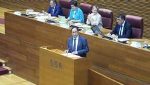 El conseller de Hacienda, Vicent Soler, comparece en las Corts