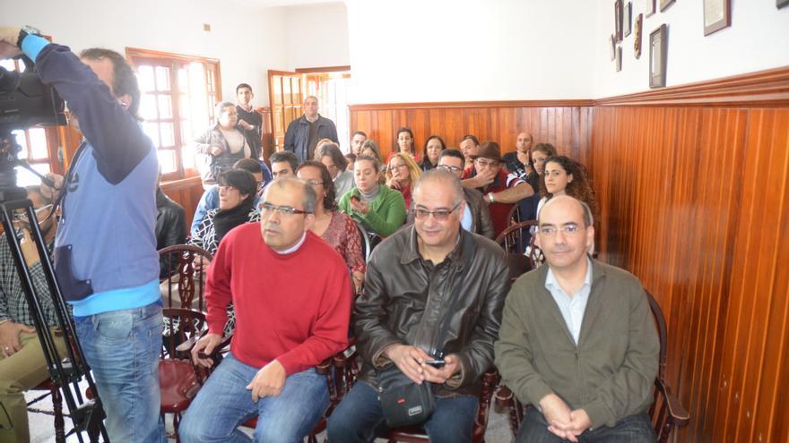 Visita de Juan Luis Gordo a La Aldea.