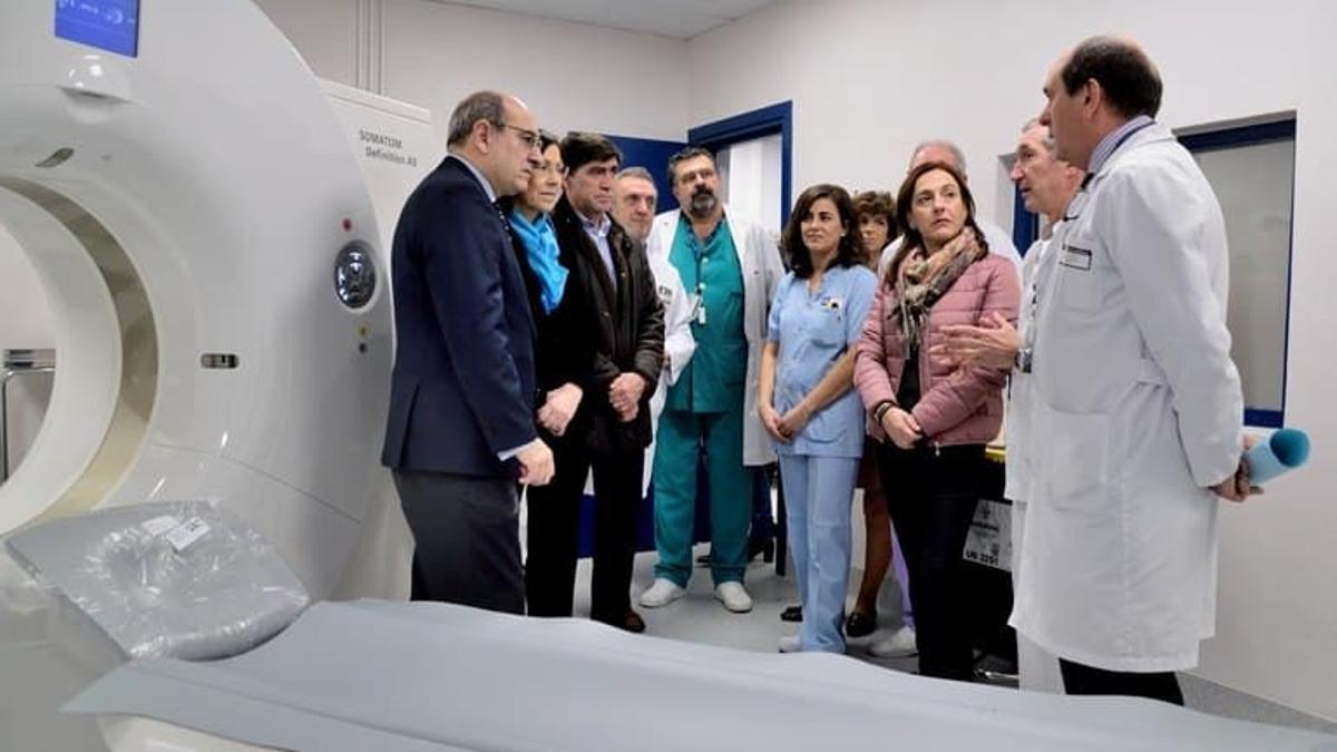 Darpón, Múrgica, Arcelai, Murga y Ansotegi, en una visita hospitalaria