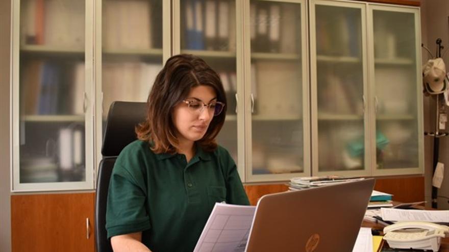 Elena Mesas, presidenta IGP Ajo Morado de las Pedroñeras