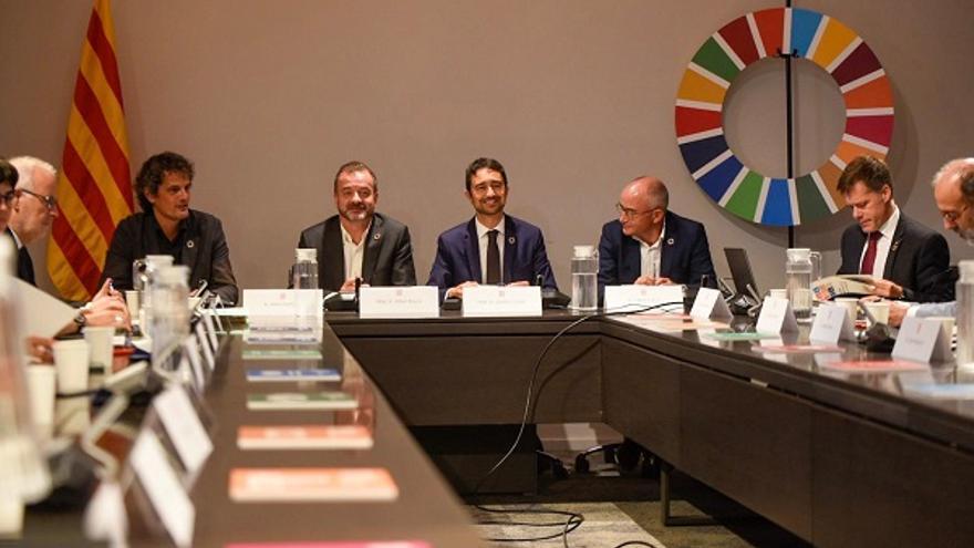 Una de les reunions de treball per a l'elaboració del Pla Nacional de l'Agenda 2030.