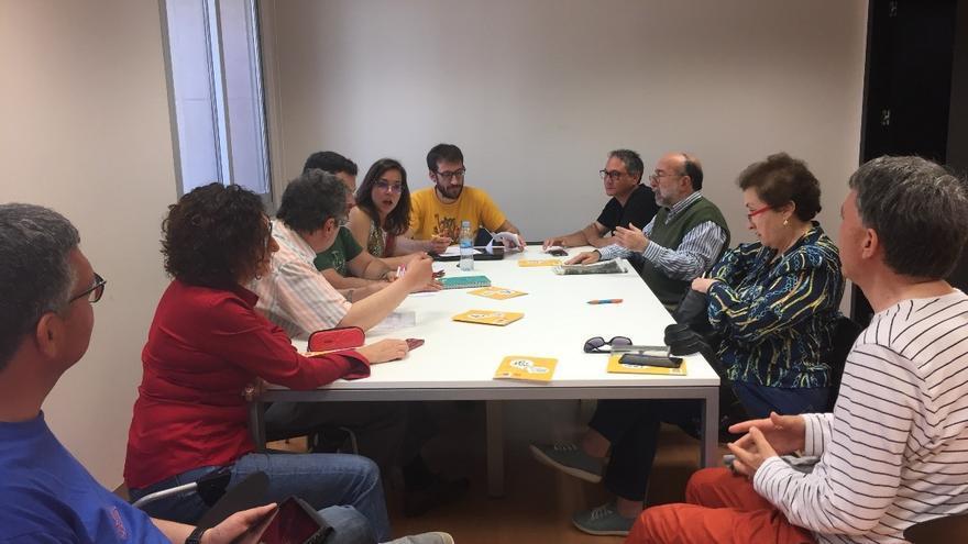 Miembros de la plataforma Castelló per la Llengua