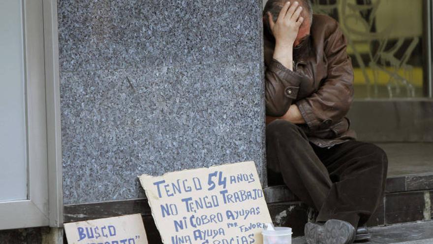 Muchas personas se encuentran en situación de exclusión social.