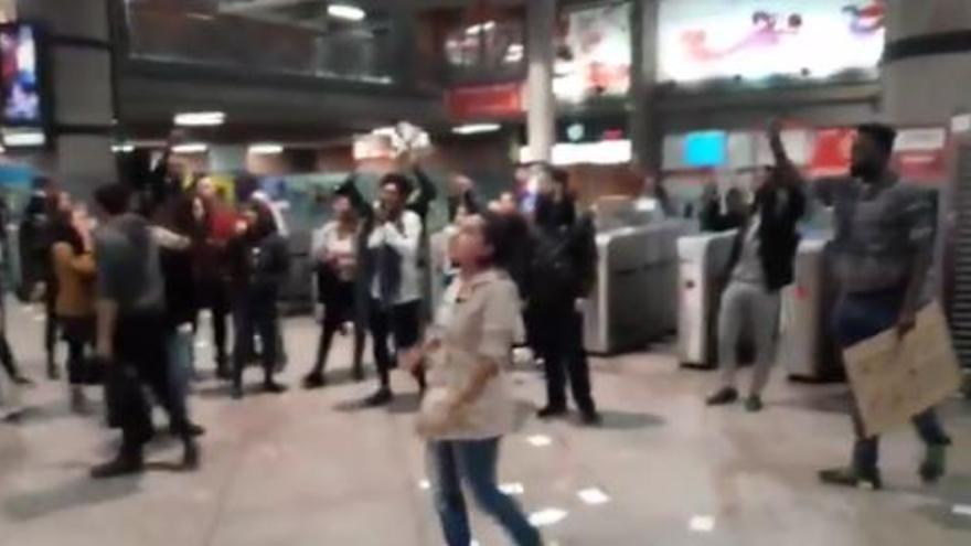Manifestación contra el racismo en Atocha