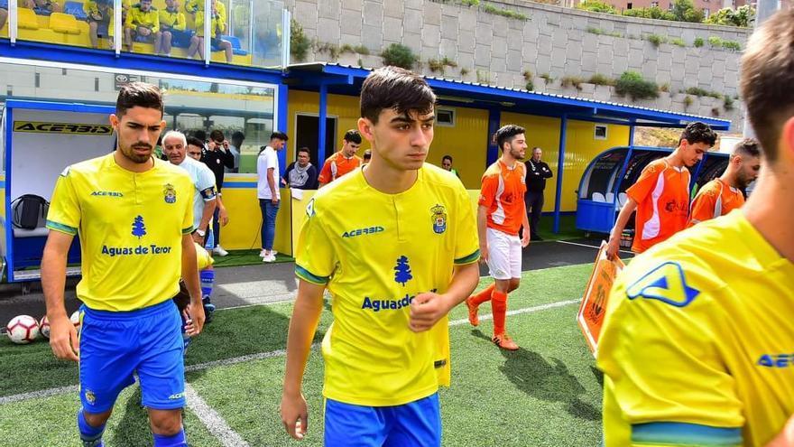Pedro Hernández, durante un partido con el equipo amarillo