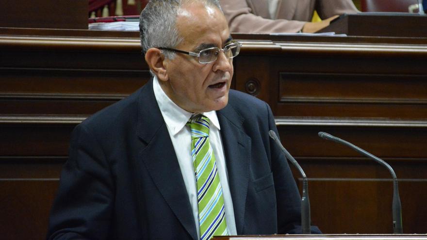 Daniel Cerdán, Comisionado de la Transparencia de Canarias, durante una intervención en el Parlamento de Canarias.