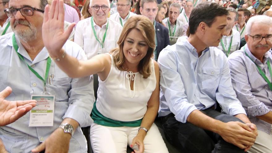 Susana Díaz saca adelante su Ejecutiva con un 91% de apoyo, 5,9 puntos menos que en 2013