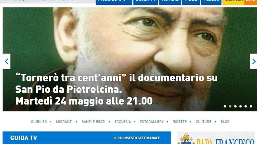 Captura de la web de TV2000, el canal italiano en el que se fijan los obispos españoles
