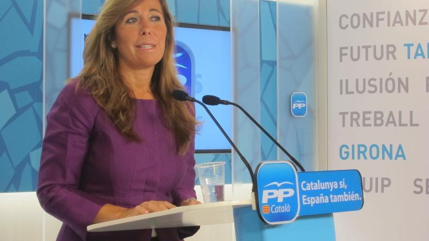 """Sánchez-Camacho afirma que las declaraciones de Aznar han """"fortalecido"""" la lealtad del PP a Rajoy"""