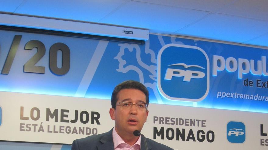 """El PP de Extremadura remarca que no aceptará que se trate a Monago """"como un delincuente"""""""