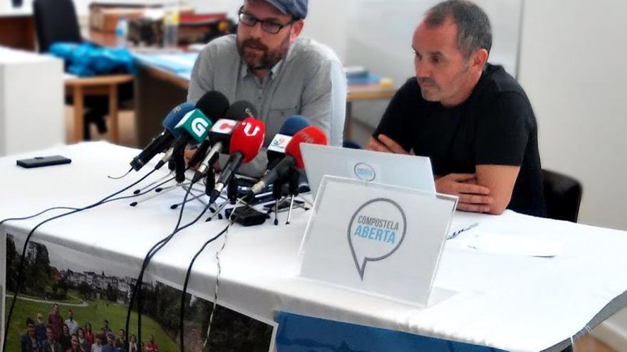 Martiño Noriega (izquierda) y Xan Duro, este viernes en rueda de prensa