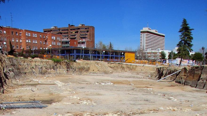 Los hallazgos durante las obras de ampliación de la Vía Carpetana, en 2005. (Crédito: Jesús Rodríguez)