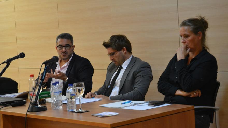 Diego Silva Forné, durante la conferencia en los cursos de verano de la UMA | N.C.